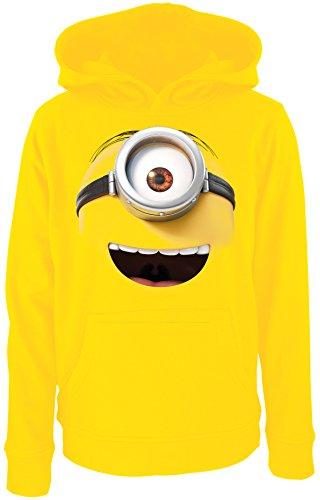 Sudadera con capucha Minions con cara sonriente. amarillo L
