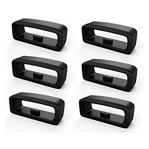 Verschlussring Kompatibel mit Garmin Fenix5/Fenix5 Plus - 6 Pack Ring Silikonbandhalter für Fenix 5 / Fenix5 Plus/Forerunner 235/Forerunner 630/Forerunner 735XT Silikon Sichere Schleife