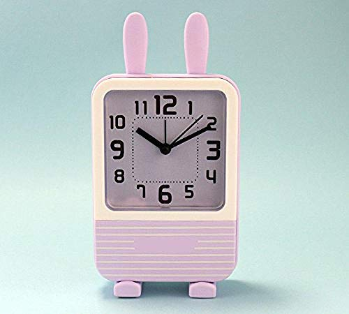 Preisvergleich Produktbild PKLFQQA Wecker Kinder spezielle süße Kinder Kinder Studenten stumme Hasenohren Exquisite Mode süße Uhr