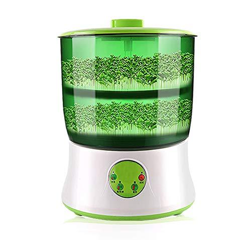 Tauge Machine, Multifunctionele Dubbellaagse Automatische Irrigatiethermostaat Kiemkookmachine Met Grote Capaciteit Graanapparatuur Voor Huishoudelijk Gebruik