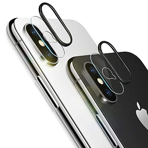 RHESHINE Kamera Panzerglas Kompatibel für iPhone XS/XS Max, Kamera Transparentes Schutzglas,Ultra-klar 9H Härte, Anti-Kratzen, Anti-Bläschen Panzerglas Displayschutzfolie (2*Schutzfolie + 2*Ring)