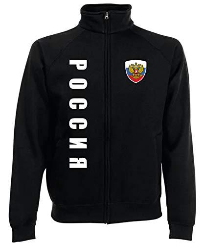 Aprom-Sports Rusia SPA SC - Sudadera con cremallera Negro L