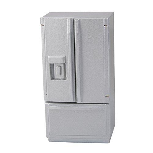 F Fityle Astilla Frigorífico Refrigerador De Madera para 1/12 Dollhouse Miniatura Cocina Accs