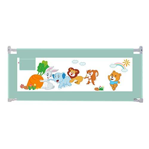 CYLQ bedrails voor peuters, verstelbaar, extra lang, bedrooster, voor kinderen, tweepersoonsbed, echte matras, koningin en koningin, barrière voor baby, groen