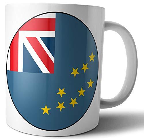 Tuvalu Flagge – Tee – Kaffee – Tasse – Geburtstag – Weihnachten – Geschenk – Secret Santa – Strumpffüller
