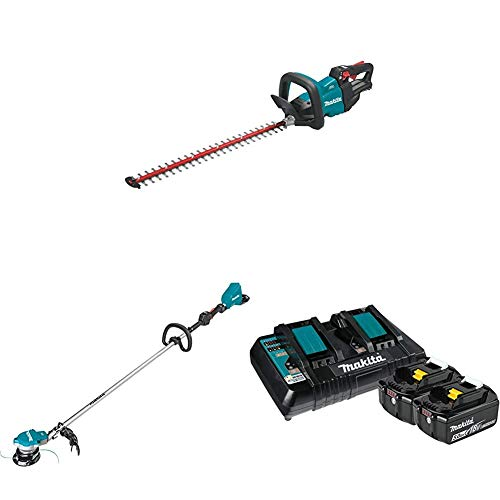 Review Of Makita XHU07Z 18V LXT Lithium-Ion Brushless Cordless 24 inch Hedge Trimmer and XRU15Z Cord...