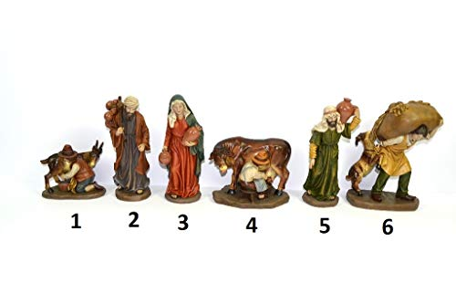 DUE ESSE CHRISTMAS S.r.l. Personaggi PRESEPE 6 Mestieri 20 CM in Resina (Pastore 1)