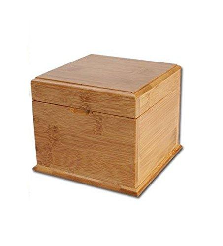 Box aus Bambus , mit Geheimfach - 128x128x105mm