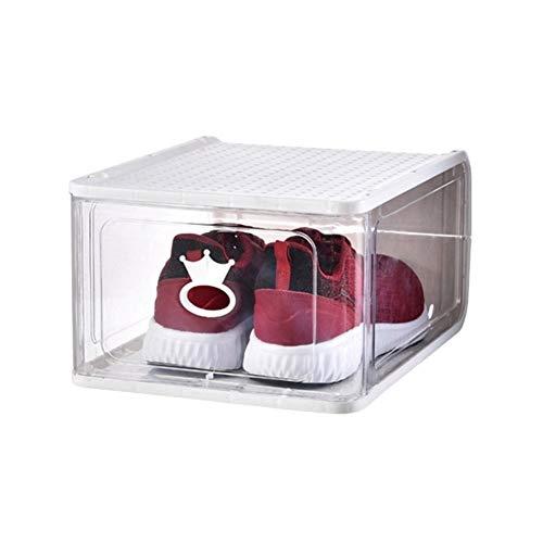 Zapatero de almacenamiento para zapatos, organizador de zapatos, organizador de almacenamiento de zapatos, soporte para guardar espacio (color: color blanco)