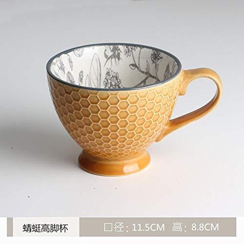 N / A Kreative Keramik-Kaffeetasse Persönlichkeit Frühstückstasse für Familiencafé, B-7