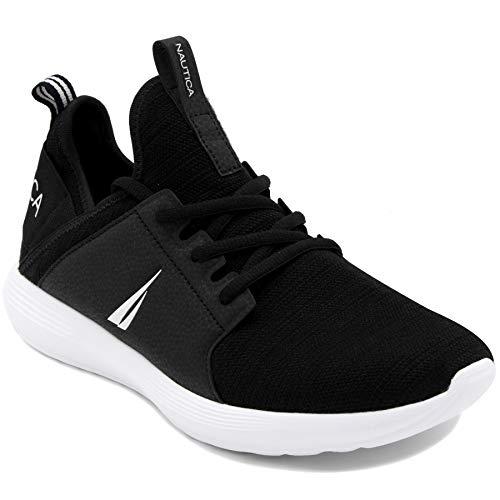 Zapatillas Deportivas de Hombre Nautica Estilo Casual a Dos Telas de Color Negro