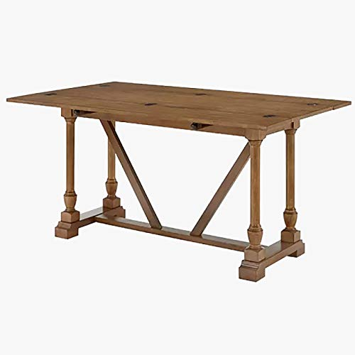 Wood Folding Dining Table - Rectangular Rustic Dining Table - Oak