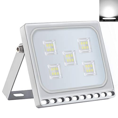 30W LED Ultradelgadas Luz de Inundación 2400lm 6500K Blanco Frío Focas IP65 Iluminación Exterior Impermeable para Jardín Paisaje Estacionamiento Hotel