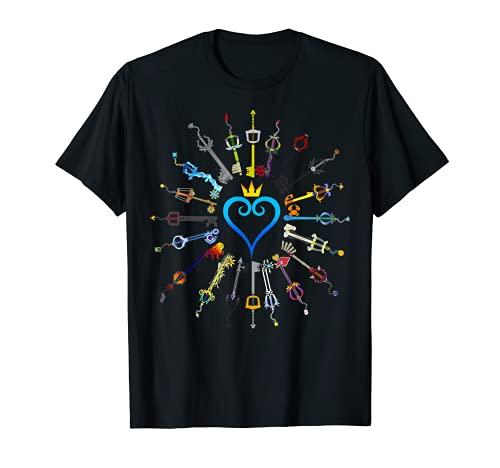 Kingdom Funny Hearts-Keyblades para hombres y mujeres Camiseta