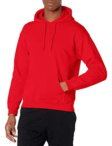Gildan Heavy Blend Fleece Hooded Sweatshirt Sudadera con Capucha, Rosso, S para Hombre