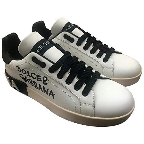 Dolce & Gabbana White/Black Portofino Sneakers New/Authentic FW20 (7)