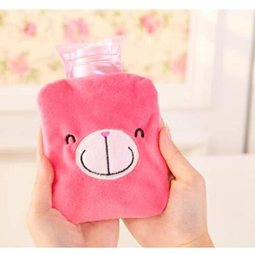 Wärmflaschen Cartoon Hand Warm Warmwasser Tragbare Handwärmer Mini-Wärmflasche Taschenhand Füße Hot-Wasser-Beutel-Abdeckung Geschenk für Winter-Flasche