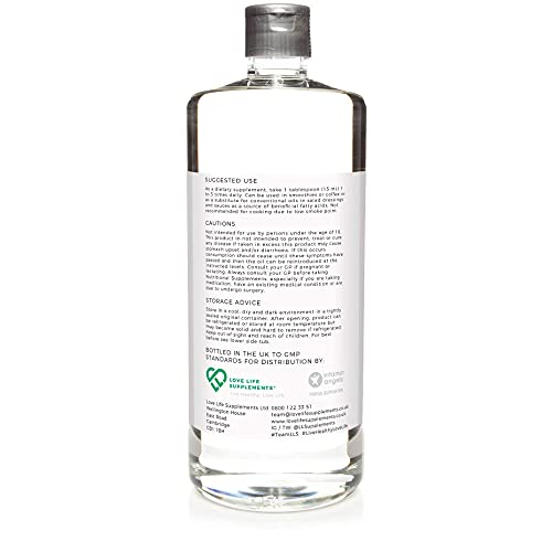 Pure C8 MCT Oil by LLS   1000ml Bottle - 66 Servings   99.8% C8 Pure Coconut   Caprylic Acid Converts More Rapidly into Ketones   BPA-Free Bottle   Manufactured Here in The UK Under BRC Certification