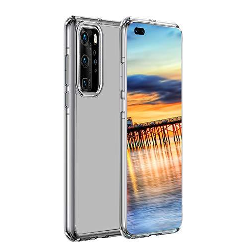 Ylife Hülle Kompatibel mit Huawei P40 Pro Transparent TPU Silikon Handyhülle Durchsichtige Stoßfest Slim Weich Dünn Schutzhülle Hülle für Huawei P40 Pro