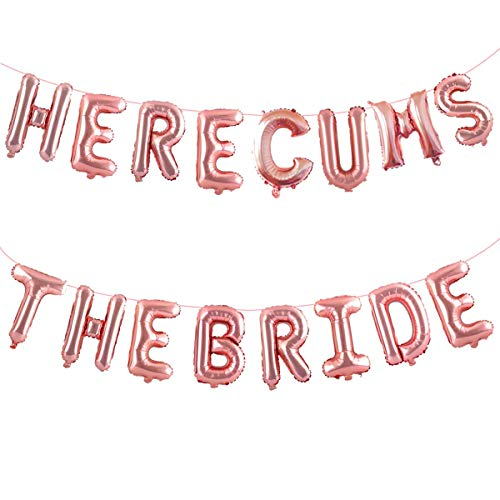 Bachelorette Party Decorations, HERE Comes The Bride, Bachelorette Party Gift for Bride, Bachelorette Party Favors, Bridal Shower Decorations, Bachelorette Party Supplies,Helium Balloons