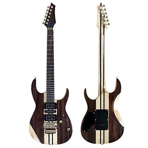 Chitarra strumento musicale Produzione Seiko Chitarra elettrica doppia roccia Legno impiallacciato rosa Chitarra elettrica per tutto il corpo