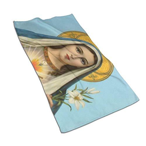 N/A Toalla de Mano Suave Jesús católico Cristiano Regalo religioso Santa Virgen María Milagrosa Toallas de baño Toallas de Mano para el hogar/Playa o Yoga 27.5 x 17.5 Pulgadas