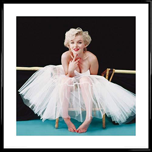 1art1 Marilyn Monroe Poster Kunstdruck und Kunststoff-Rahmen - Ballerina (40 x 40cm)