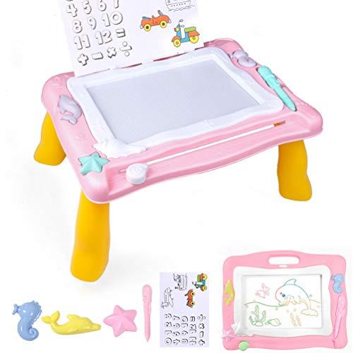 RONGJJ Lavagna Magnetica Bambini colorato Bambini Lavagna magnetica, da scrivere portatile dipingere Lavagna magnetica Giocattoli Educativo, Pink