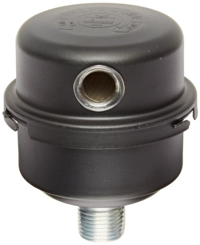Solberg FS-06-050 Inlet Compressor Air Filter Silencer, 1/2' MPT Outlet, 3-13/16' Height, 3-1/4' Diameter, 12 SCFM, Made in the USA
