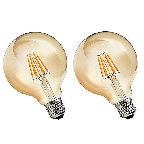BTF Bombilla Edison Vintage 6W equivalente a 60W LED Retro Decorativa Bombillas...