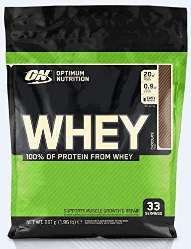 Optimum Nutrition ON Whey Protein Pulver, Eiweißpulver Muskelaufbau, Protein Shake mit 20g Protein pro Portion, Chocolate, 33 Portionen, 0,9kg