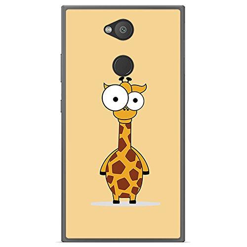 Tumundosmartphone Funda Gel TPU para Sony Xperia L2 diseño Jirafa Dibujos