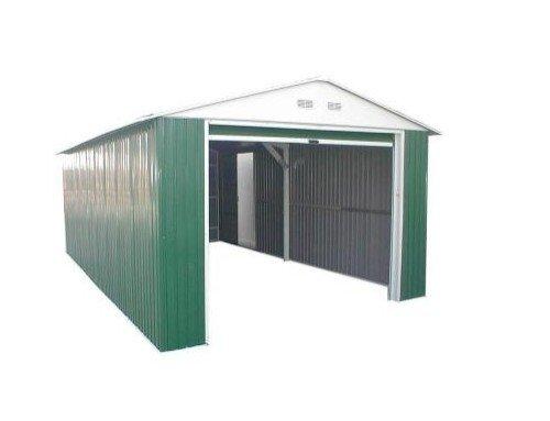 Duramax Garaje_Lyon - Garaje metálico Color Verde Lyon