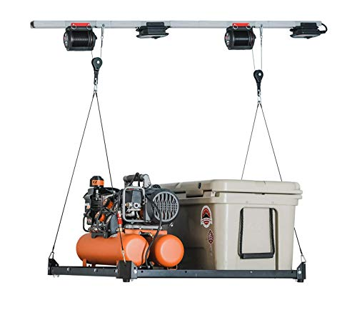Garage Smart Platform Lifter. Motorized Garage Storage Hoist. Garage Shelving Built to Lift, Lower and Store Your Items for You. iOS & Android Compatible. (3' X 3')
