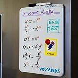 "Volcanics Dry Erase Board, 17"" x 14"" whiteboard with a Black Dry Erase Marker, Small White Board, Magnetic White Board for Kids, Mini Whiteboard for Fridge, Locker"