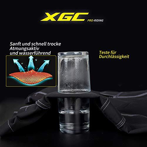 XGC Herren Radhose Radlerhose Fahrradhose,Atmungsaktiv Sports MTB Kurz Hose für Männer (Black, S) - 6