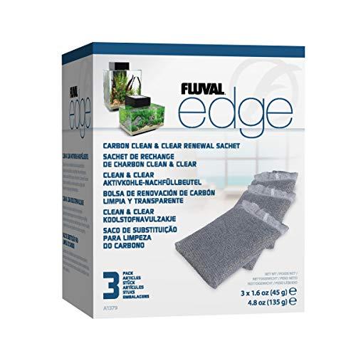 Fluval Edge Clean und Clear Aktivkohle-Nachfüllbeutel 3er Pack