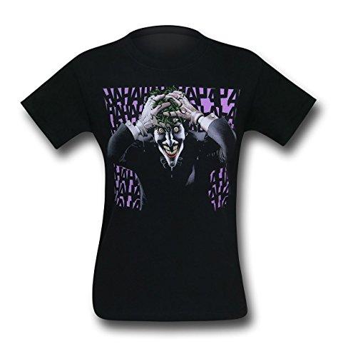 SuperHeroStuff Camiseta masculina Coringa The Killing Joke, Preto, XXL