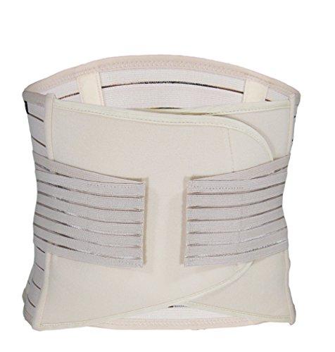 Unbekannt Bauchweg Gürtel für nach der Geburt - Body Shaper - Taillen Former - Rückenstützgürtel (beige, M-L = 70-90cm Bauchumfang)