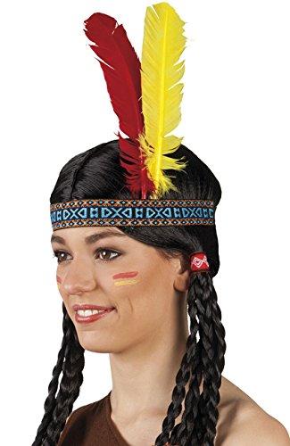 Boland 44136 Haarband Indianer, Unisex-Erwachsene, mehrfarbig, One Size