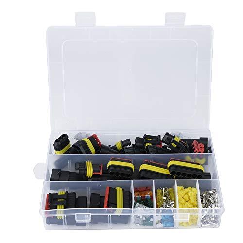 Conector eléctrico de coche, 240 piezas Conector eléctrico colorido Kit de enchufe de terminal de conector de cable eléctrico de coche