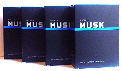 4 x Avon Musk Marine Eau de Toilette Para Hombre 75 ml (4 unidades)