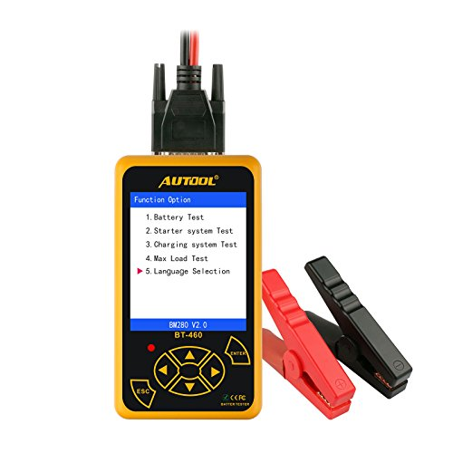 Automotive Battery Load Tester 12V/24V 100-2400 CCA Car Battery Analyzer Charging Cranking System Tester for Heavy Duty Trucks Motorcycle ATV SUV Boat Yacht