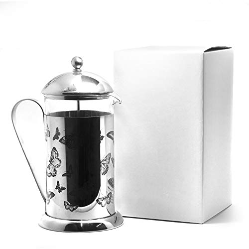 ZoSiP Caffettiere a Pistone French Press French Press Vaso di Vetro Coffee Pot casa Filtro Resistente al Calore tè e caffè (Color : Glass, Size : One Size)