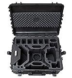Mallette Professionnelle pour DJI Phantom 4 RTK avec Un Espace pour Jusqu'à 9 Batteries et d'Autres Accessoires, Mallette extérieure étanche, IP67 (Valises)