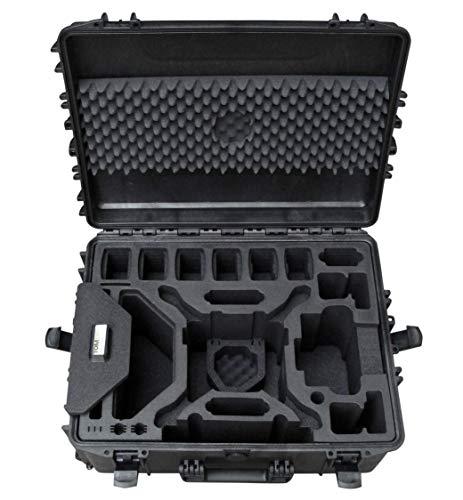 Custodia professionale per DJI Phantom 4 RTK con spazio per un massimo di 9 batterie e molti altri accessori, custodia impermeabile per esterni, IP67 (Trolley)