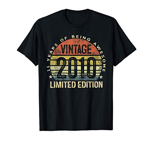 11 Year Old Gifts Vintage 2010 Limited Edition 11th Birthday T-Shirt