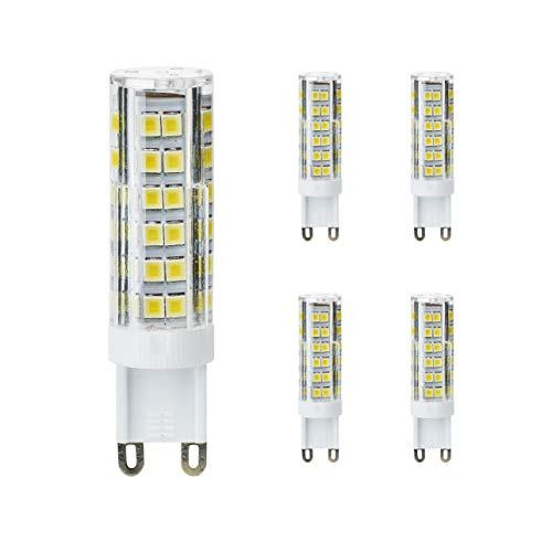 Kobos-led - Bombilla led (G9, intensidad regulable, 7 W = 50 W, 5 unidades), color blanco neutro