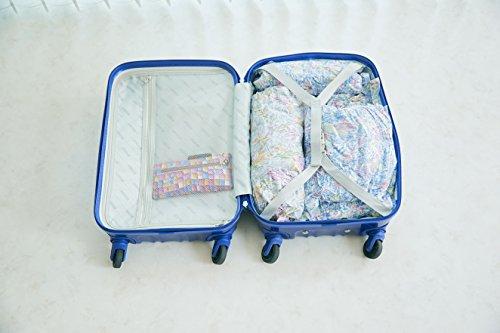 衣類圧縮袋日本製片面ボタニカル柄5枚セット(Sx2枚、Mx2枚、Lx1枚)衣類旅行衣替えかわいいおしゃれ
