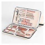 Set de manicura 7/10/12/16/18 PC / sistema de clavo de las podadoras de oro Conjunto belleza del acero inoxidable de manicura profesional del sistema de herramienta de corte de piel muerta pedicura Ki